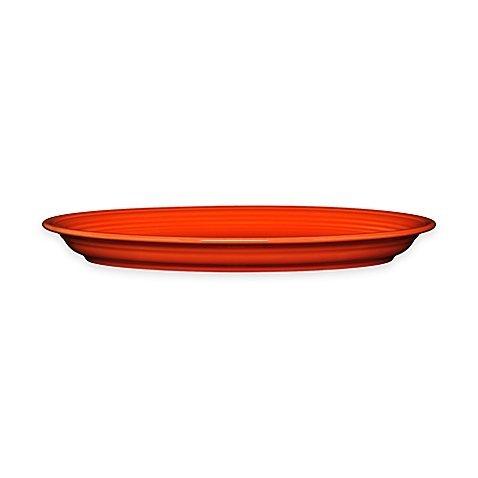 Fiestaware Extra Large Oval Serving Platter, 19.25'' - Poppy Orange
