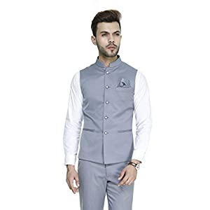 ManQ Men's Blended Waist Coat