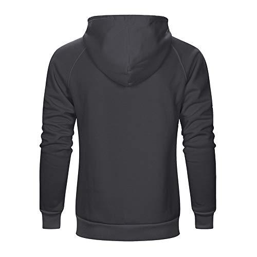 Homme Dark Longues Casual Shirt Gray À Ficelle De Sweater Veste Manches Sport Sweat Réglable Pull Avec r6p8czrfq