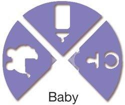 Uchida Clever Lever 3-in-1 Tri-Corner Craft Punch: Baby