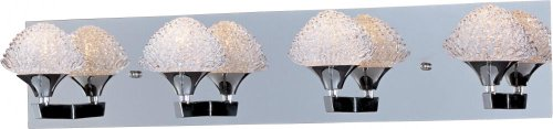 Et2 Blossom - Polished Chrome Blossom 27.75In. Wide 4-Bulb Bathroom Light Fixture E23014-20PC