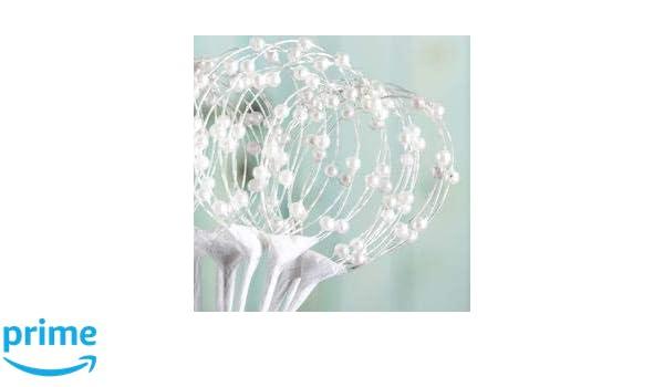 Pearl Sprays Loops White Floral Picks Pack of 36 Stems