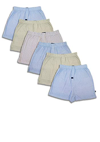 Joseph Abboud Men's 6 Pack Full Cut Cotton Boxers Sleep Shorts (Small, Assorted)