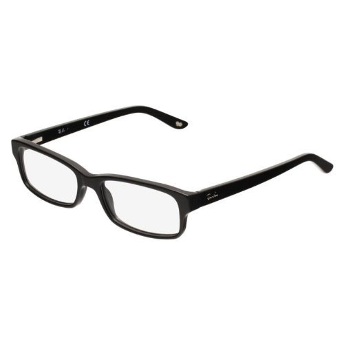 Ray-Ban Rx5187 Rectangular Eyeglasses,Shiny Black,52 - Glasses Latest Designer 2017