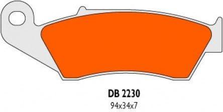 13/ Bremsbel/äge Delta Braking Sinter DB2230RDN f/ür SUZUKI 250/RM-Z K Baujahr 04 vorne