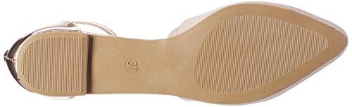 Another Pair of Shoes BlairE1, Damen Knöchelriemchen Ballerinas, Pink (Dusty Pink/Rosegold1994), 41 EU (8 Damen UK)