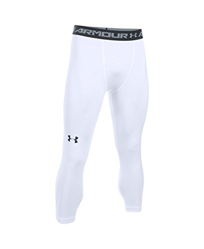 Under Armour Men's HeatGear Armour ¾ Compression Leggings, White /Black, X-Large by Under Armour (Image #3)
