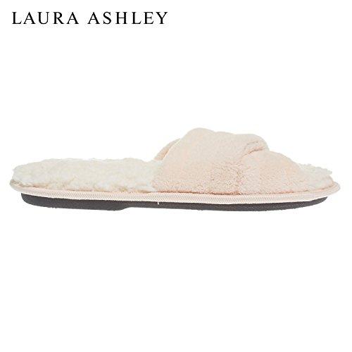 Laura Kvinna Ashley Damer Lyx Spa Tvärband Minne Skum Tofflor (se Fler Färger Och Storlekar) Macaron