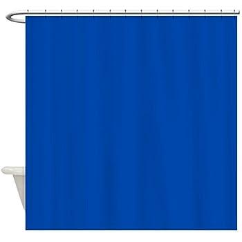 CafePress Solid Cobalt Blue Shower Curtain Decorative Fabric