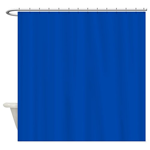 Solid Cobalt Blue Shower Curtain - Decorative Fabric Shower Curtain