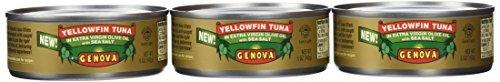 Genova Yellowfin Tuna in Extra Virgin Olive Oil with Sea Salt, 5 Ounce (Pack of 24) by Genova (Genova Tuna)