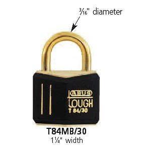 ABUS T84MB/30 C KD 30mm All Weather Solid Brass Keyed Different Padlock, Black