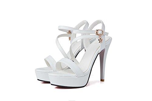 Ouvert BalaMasa 5 36 Femme Blanc Bout Blanc BwnHqw5O6