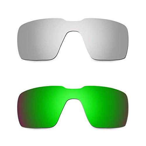 d172fc76d9e64 Caliente de la venta Hkuco Mens Replacement Lenses For Oakley Probation  Titanium Emerald Green Sunglasses