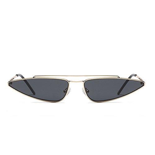 Glasses Gris Women Sun Cat Retro Eye Anti Unique Fashion Vintage UV Small Sunglasses z4wZq