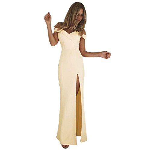 Manches Sexy Robe Kaki Cocktail Longue Robe Robe Casual Couleur Femme Unie S XL Sans Tops De ~ De Soire Paule Femme Wolfleague IrrGuliRe Fourrure Robe vSZqww0