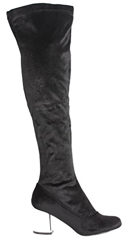 Boots Ladies Womens High Size Winter Black Knee Heel Black High Slouch Block Style Style Stretch O Mid BH7vAHq