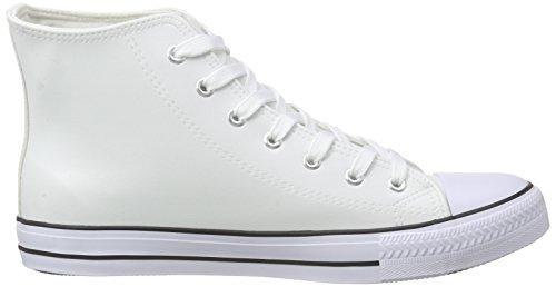 Sneakers Blanc Leder Homme VOLL White Nebulus Evo Hautes wfRCq