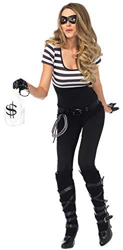 Leg Avenue Women's 5PC.Bank Robbin' Bandit Catsuit,