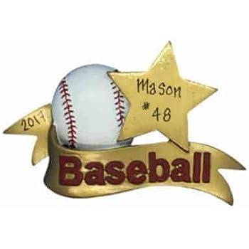 f3b46ef1423 Baseball Sports Star Personalized Ornament - (Unique Christmas Tree  Ornament - Classic Decor for A