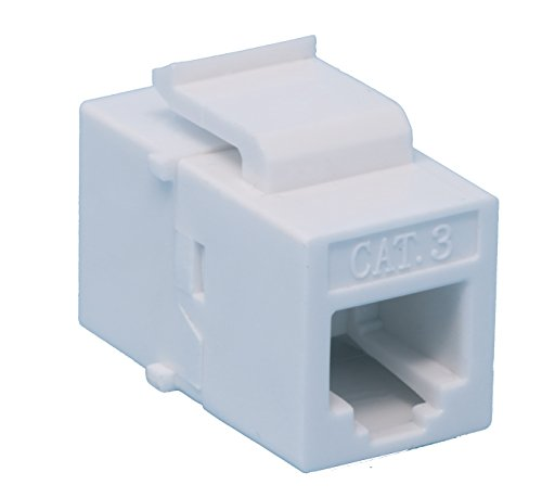RiteAV RJ11-12 Phone White Keystone Jack Coupler Female to Female