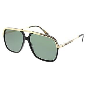 Gucci GG0200S 001 Black / Gold GG0200S Square Aviator Sunglasses Lens Category