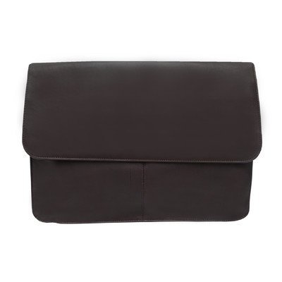 Entrepeneur Three-Section Flap Portfolio Color: Chocolate