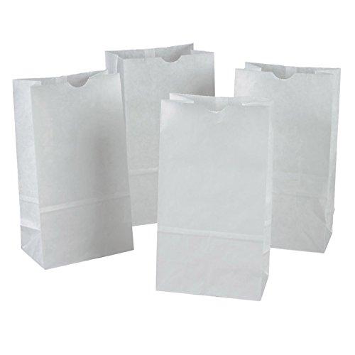 "Pacon Kraft Bags, 6""x3-5/8""x11"", White, 100 bags/pack, (72020)"