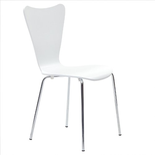 Danish Modern Butterfly Style Chair in White by America Luxury - Chairs