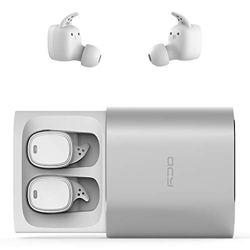 CY T1Pro TWS Wireless Earbuds with Charging Case, NOVPEAK Mini Invisible Touch Control Headphones Earphones Stereo Sound Headset for Android iPhone Samsung etc (1 Pair, White) by NOVPEAK