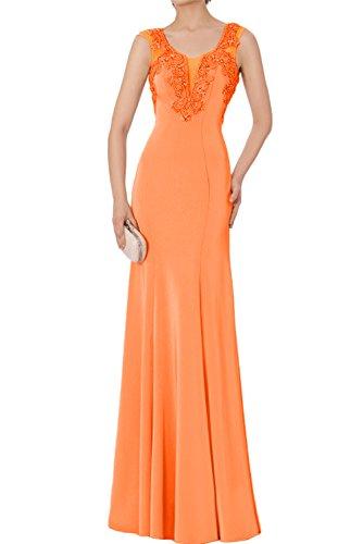 Abendkleider Ivydressing Applikation Altrosa Neu Orange Stein Chiffon Ballkleider Promkleider Glamour Bodenlang r0raqO