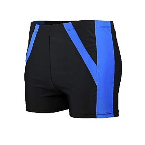 Turtleneck Cotton Print Interlock (TWinmar Men's Half Swim Trunks Quick Dry Boxer Briefs Beach Surfing Shorts Panties Print Running Underwear XL-XXXXXL Blue)