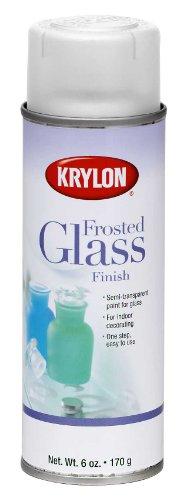chic Krylon K09040 Frosted Glass Finish Glass Paints Aerosol, White Finish, 6 Ounce