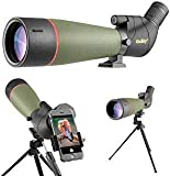 Gosky Spotting Scope - BAK4 Angled Waterproof Scope for Target Shooting Hunting Bird Watching Wildlife Scenery (20-60x80 Spotting Scope)