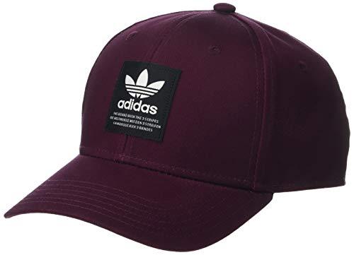 (adidas Men's Originals TL Patch Snapback Cap, Maroon/Black/Off White, One Size)