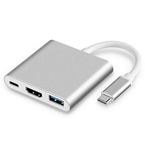 USB C Hub to HDMI Adapter - 3 in 1 USB Type...
