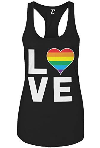 Love Rainbow Heart - Gay Pride LGBTQ Women