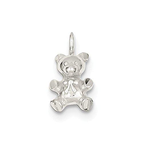 Sterling Silver Teddy Bear Charm -