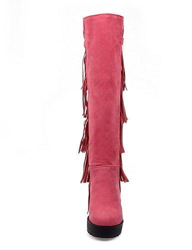 La De us5 Xzz Punta 5 Moda A Casual Tacón Zapatos Eu35 Mujer us10 Pink Eu42 Uk8 Negro Cn43 Black Cuñas Cuña Botas Cn34 Rosa Vestido Uk3 Amarillo Redonda Vellón 5 Uk 55xwvqrp