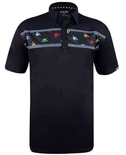 Clubhouse Designer Series ProCool Men's Golf Shirt (Black) - 4XL