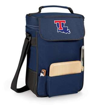 NCAA Louisiana Tech Bulldogs Duet Insulated Wine and Cheese Tote with Team Logo