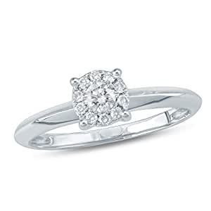 Revere Women's 18k Solid White Gold Fashion Ring