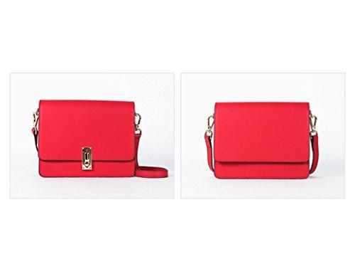 Femmes Sac Bag Bright Crossbody À Red Du Au Petites Couleur Printemps Messenger Noir En Sac Bandoulière Femmes Cuir Bag Début ZCJB f1qZn5BSn