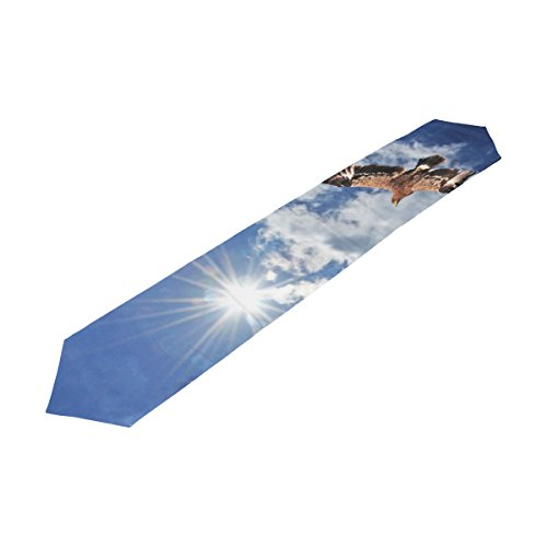 American Bald Eagle Rectangle Machine Washable Table Runner , for Wedding, Party,Dinner, Summer & Picnic Country Outdoor Home Decor, 13 x 70 (Flower Emblem Dresser)