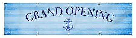 Grand Opening CGSignLab Nautical Stripes Heavy-Duty Outdoor Vinyl Banner 16x4