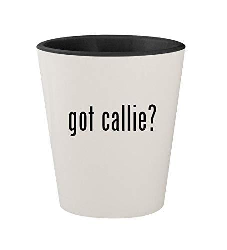 got callie? - Ceramic White Outer & Black Inner 1.5oz Shot Glass