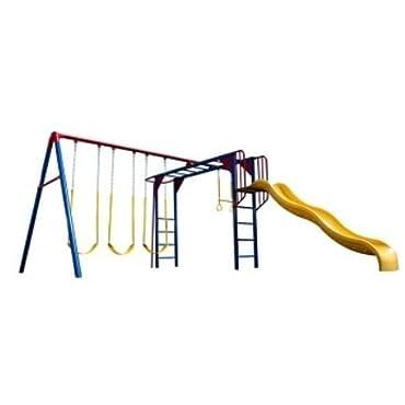 Lifetime 90177 Monkey Bar Adventure Swing Set, Primary Colors