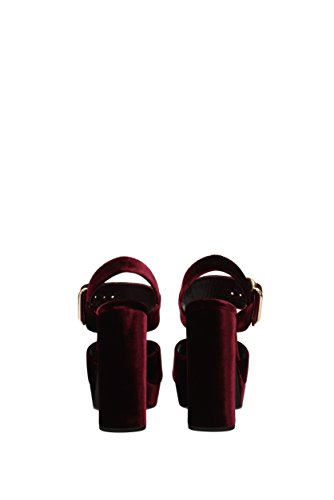 Sandaler Uk Kvinner 1xp873velluto1 Fløyel Røde Prada B1Udxwq4B