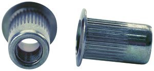M6 x 1.0 6H .70-4.20 Ribbed Body Low Profile Nutsert Steel, Pack of 10 by Fastenal Approved Vendor