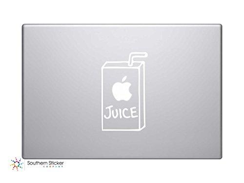 #2 Apple Juice Vinyl Car Sticker Symbol Silhouette Keypad Track Pad Decal Laptop Skin Ipad Macbook Window Truck Motorcycle (White)